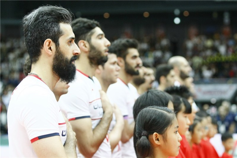 برد شیرین والیبال برابر ژاپن