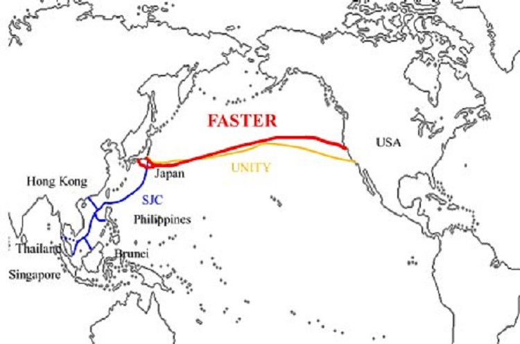 بهرهبرداری از کابل اینترنت زیر دریایی بین ژاپن و آمریکا