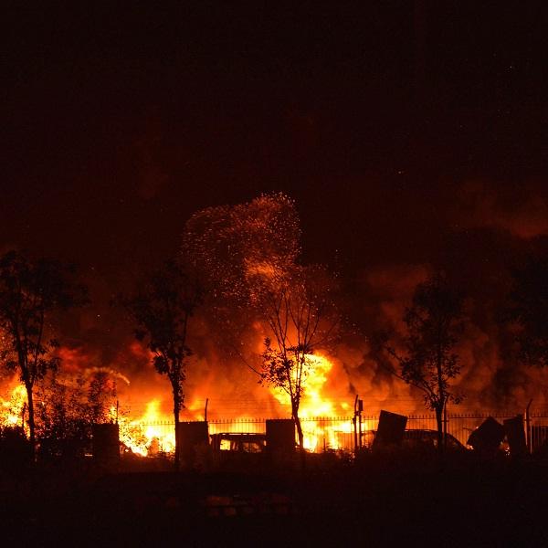 چین به آتش کشیده شد