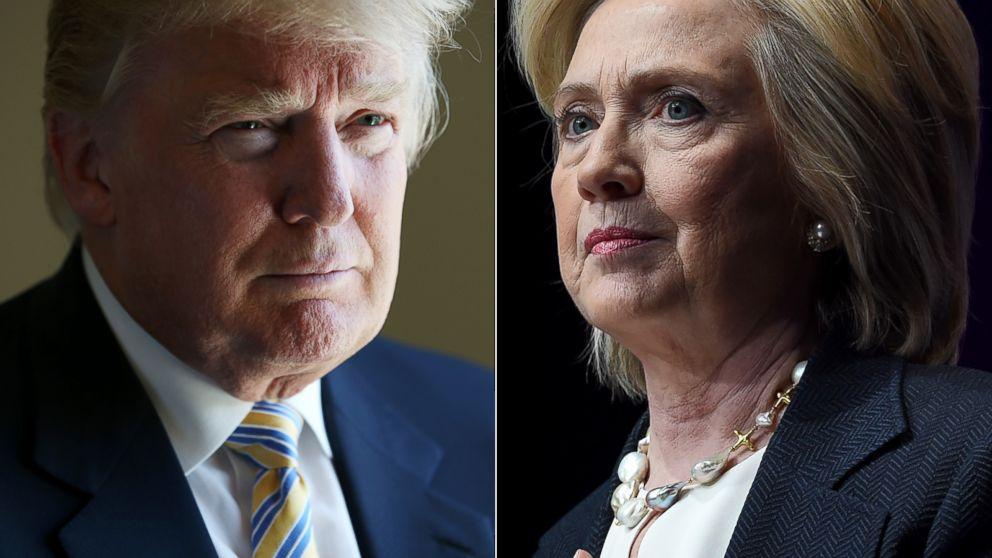 دورخيز کلینتون برای کارولینا، ترامپ برای نوادا