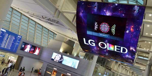 الجی بزرگترین نمایشگر OLED جهان را به نمایش گذاشت