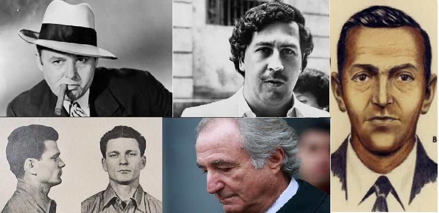پنج مجرم مشهور دنيا
