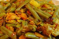 زنگ آشپزی با مایکروویو سولاردام الجی: خوراک مرغ و لوبیا سبز