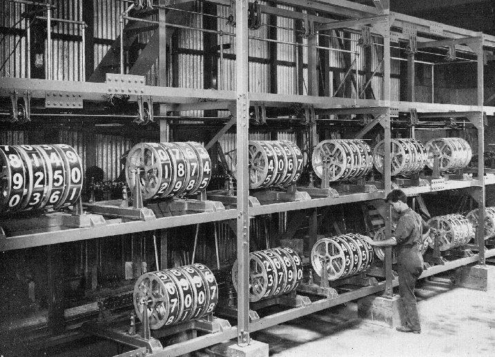 کامپیوترهای مکانیکی نیوزلند برای محاسبه احتمالات اسبدوانی در 1913